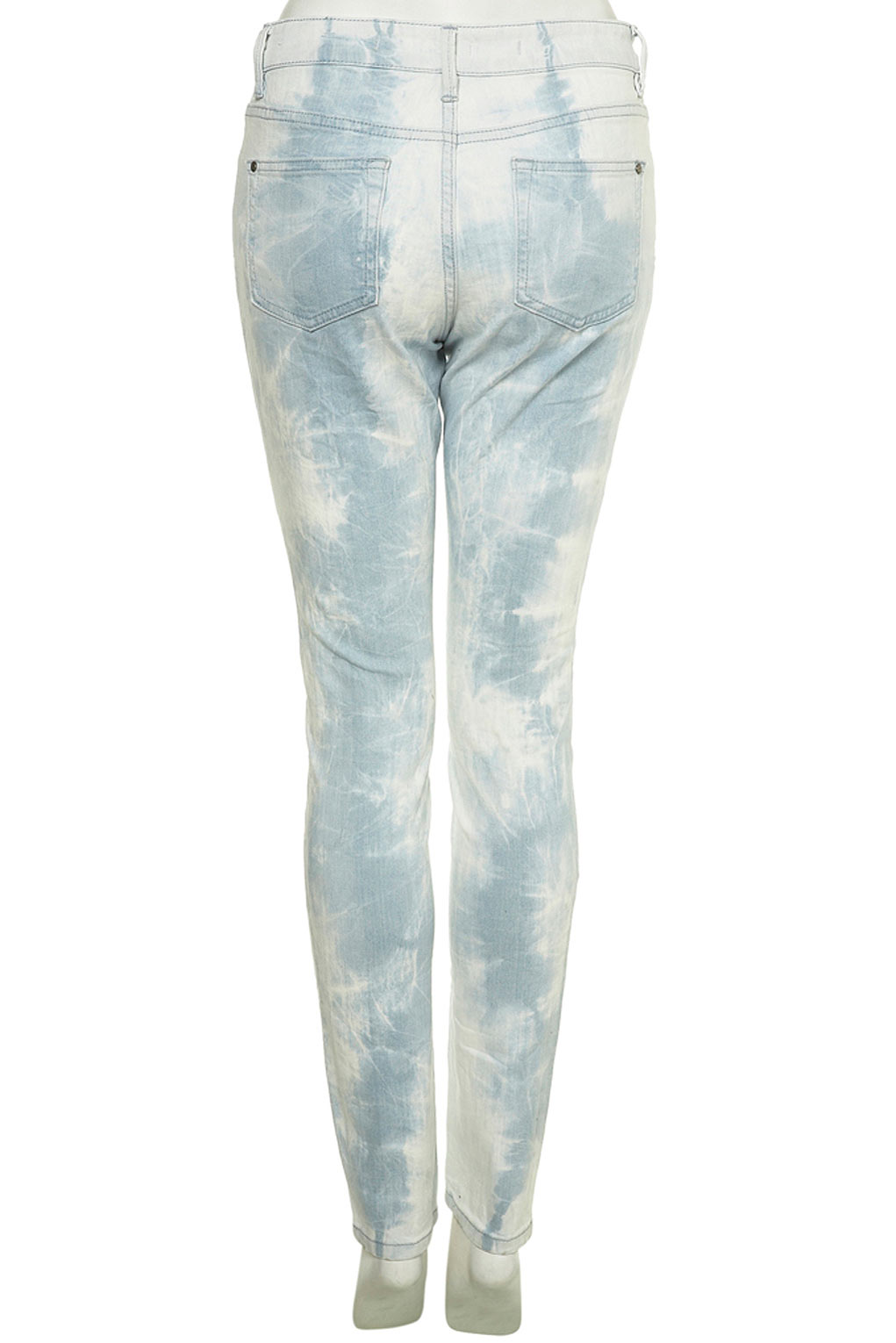 Topshop acid wash bleach ripped distressed skinny jeans ...