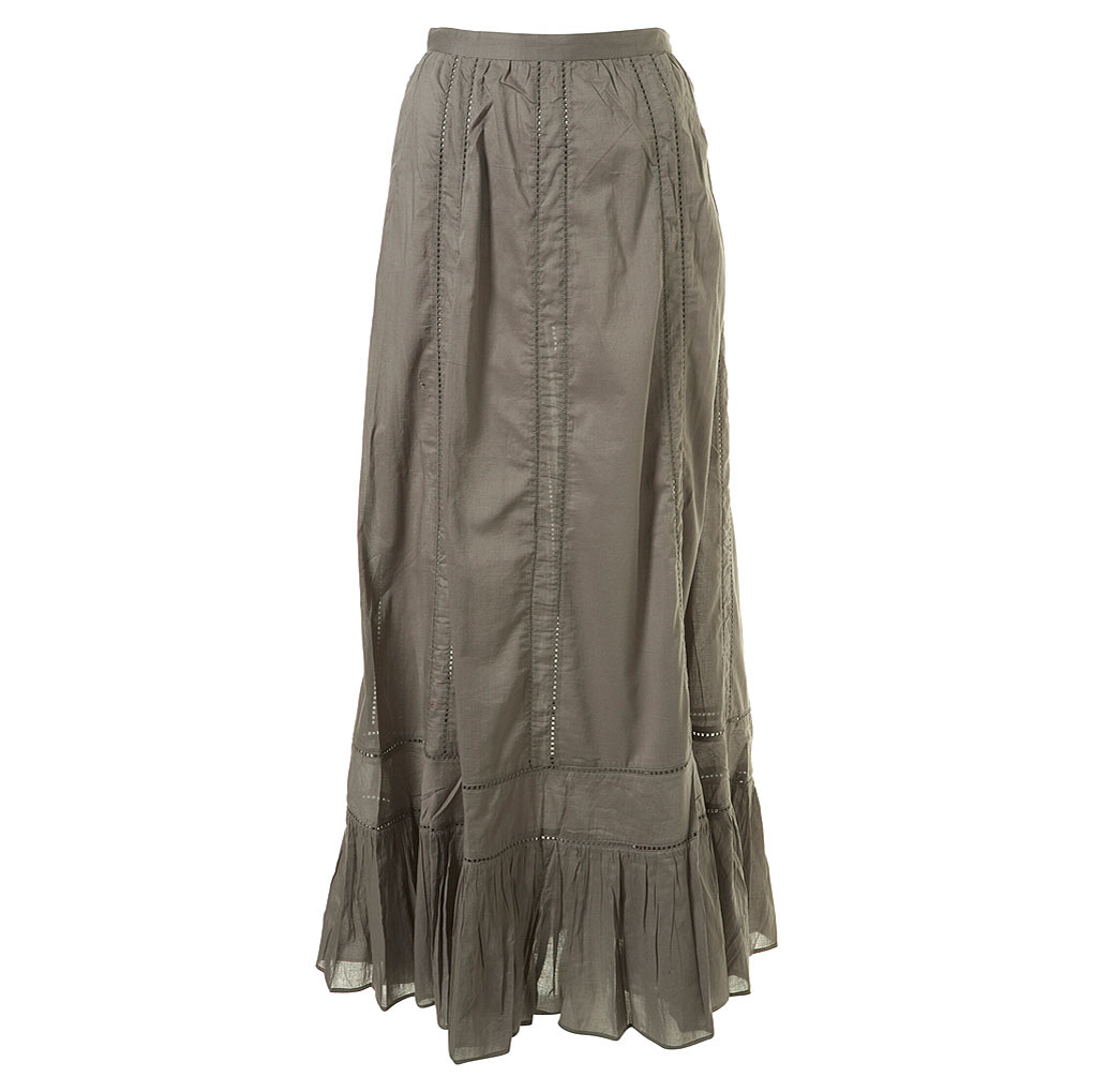topshop maxi skirt grey lace panel toppingyou