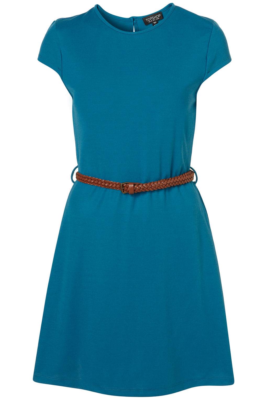 Cheap dress and skirts - Topshop Teal Blue Belted Tea Dress Toppingyou Blog