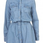 DENIM SHIRT popper DRESS