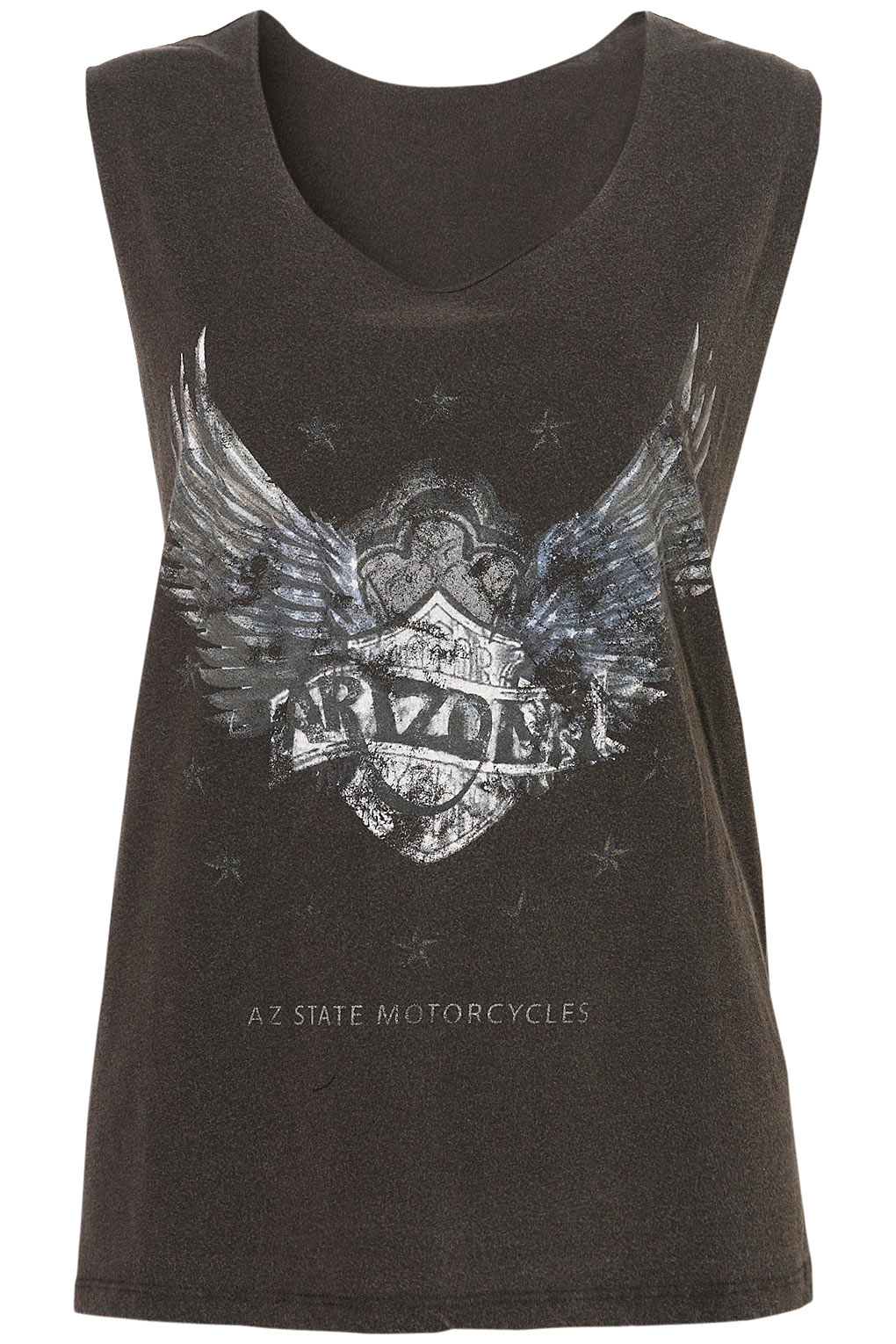 T Shirt With Motorcycle Print