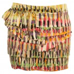 LIPSTICK MIX TIER SKIRT
