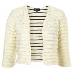 TIERED JERSEY CROP JACKET