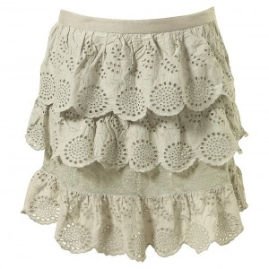 anglais tier skirt green