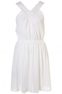 crochet cheesecloth white dress