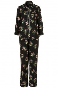 flower black pyjamas oriental