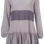 lace insert smock dress lilac