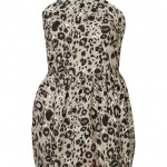 leopard halter cotton dress