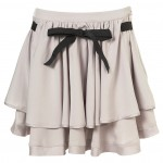 flippy tie up skirt