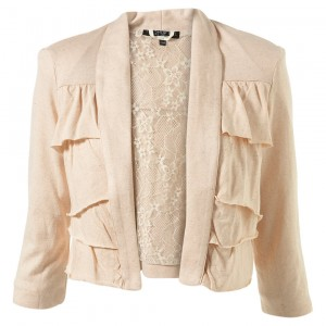 peach lace jacket