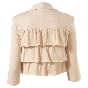 peach lace jacket back