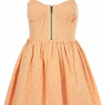 petite broserie cup dress nude peach