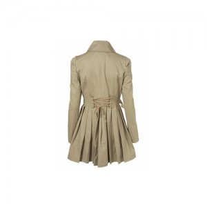 petite trench lace up back  BACK