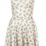 rosebud purple flower skater dress