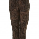 tapered snakeskin trousers