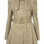 trench lace up back