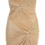 glitter knot bandeau dress