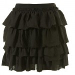 black tier skirt