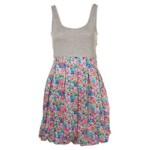 PUFF IRIS DRESS GREY FLOWER DRESS (Medium)