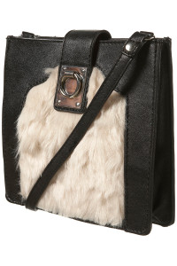 faux fur black bag