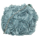 flower blue bag