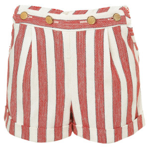 RED WHITE STRIPE SHORTS