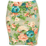 TALL FLORAL BODYCON SKIRT
