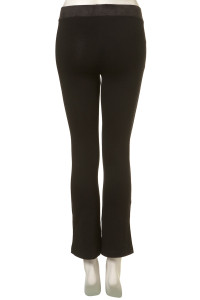 black trousers faux suede waistband back