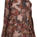 butterfly one shoulder blouse