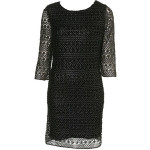topshop foiled crochet tunic dress