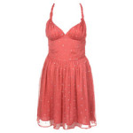 FLIRT SEQUIN DRESS ORANGE CORAL 1