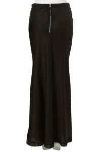maxi viscose slip skirt black back